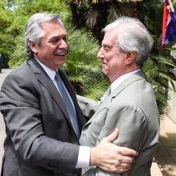 Alberto Fernández y Tabaré Vázquez   Foto:Cedoc