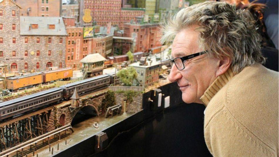 Rod Stewart y su maqueta ferroviaria