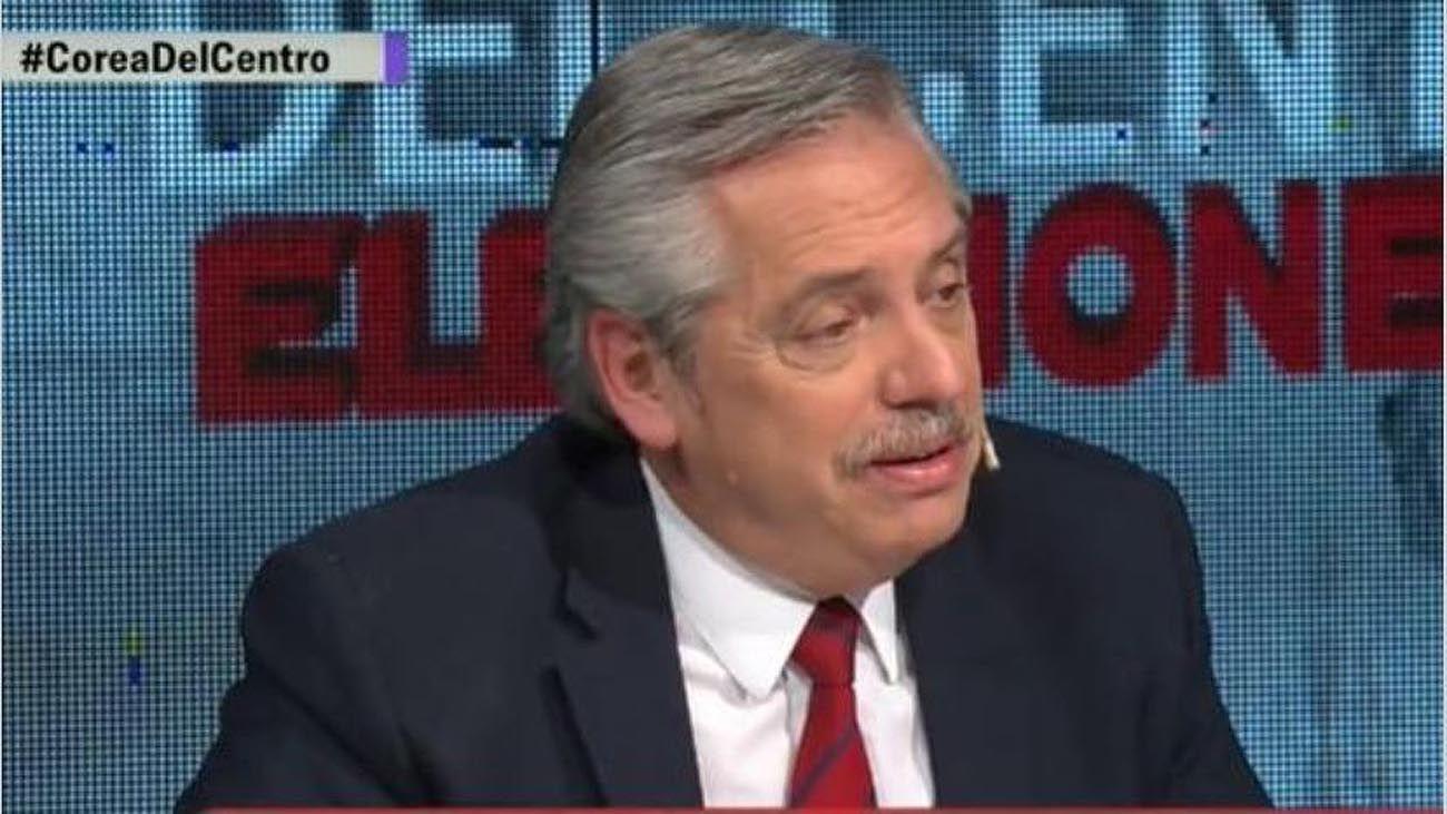 Alberto Fernandez en Corea del Centro, Net TV