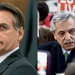 Jair Bolsonaro y Alberto Fernández | Foto:DPA y Cedoc.