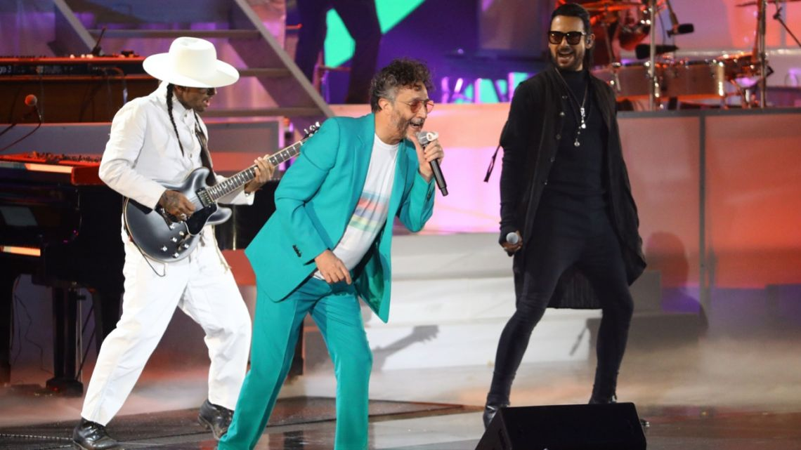 Fito Páez performs onstage in the opening act of the 20th Latin Grammys.