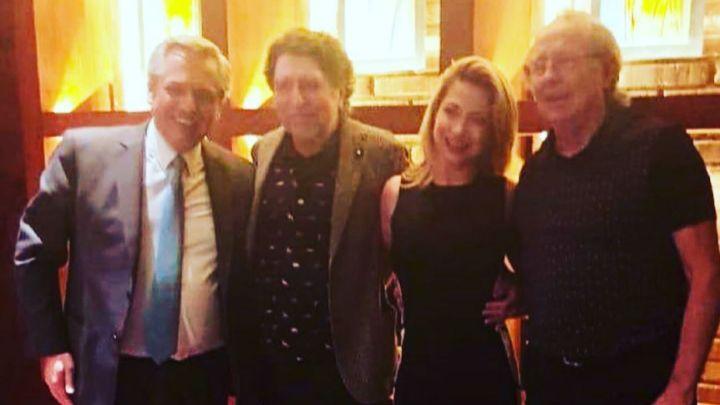 Toda la intimidad de la cena entre Fabiola Yáñez y Alberto Fernández con Sabina y Serrat