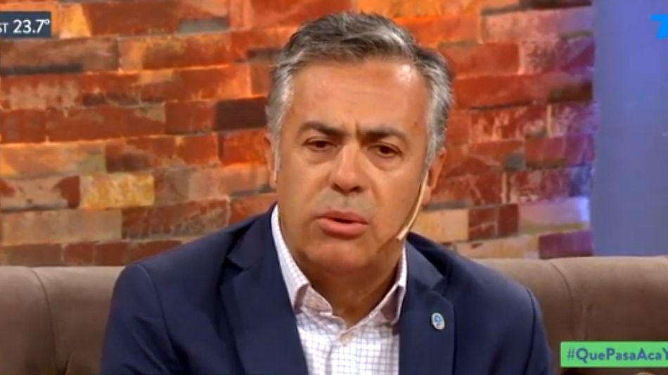 """El gobernador Alfredo Cornejo, en """"Ya somos grandes"""", el programa de Diego Leuco en TodoNoticias."""