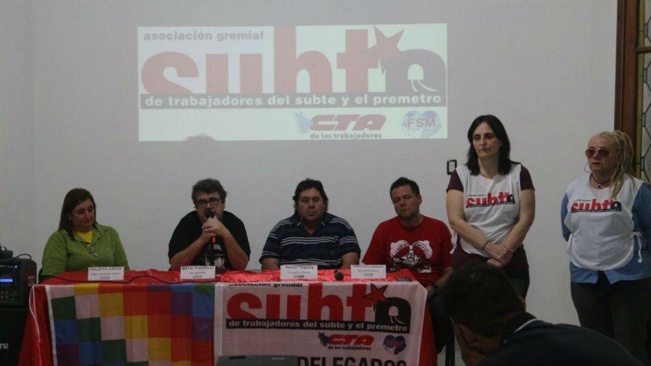 La AGTSyP realizó ayer una conferencia de prensa.
