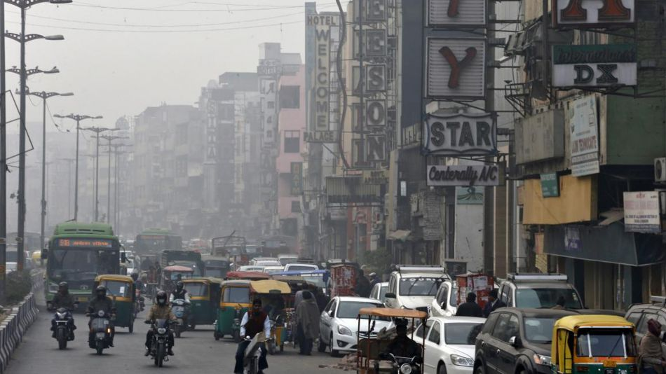 Polución en Nueva Delhi, India.