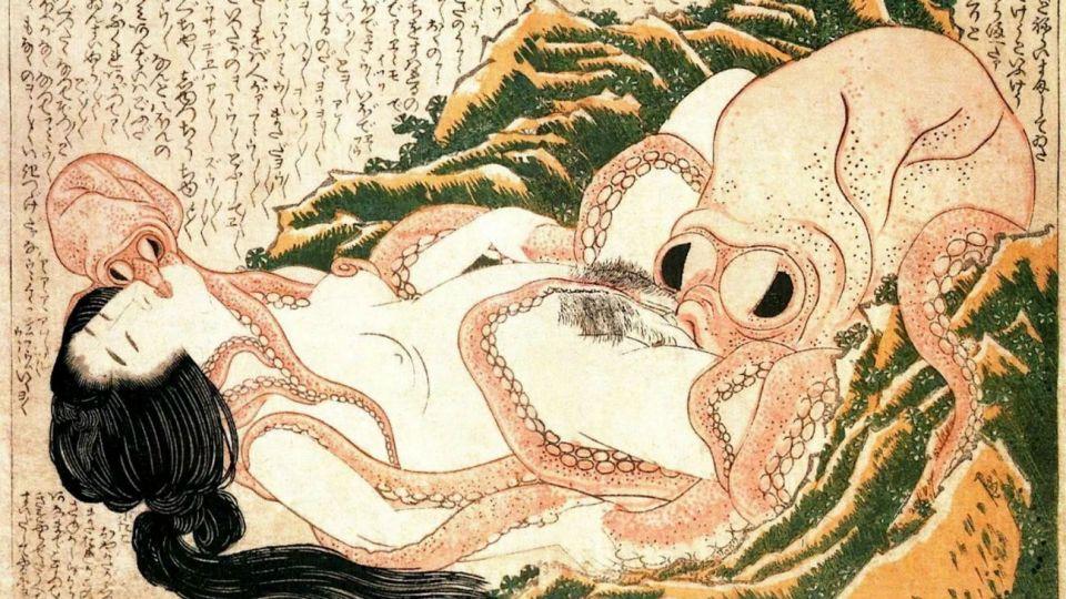 Hokusai. El sueño de la esposa del pescador (1814).