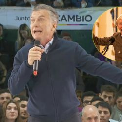 "Mauricio Macri y Emma Thompson en ""Years & Years"""