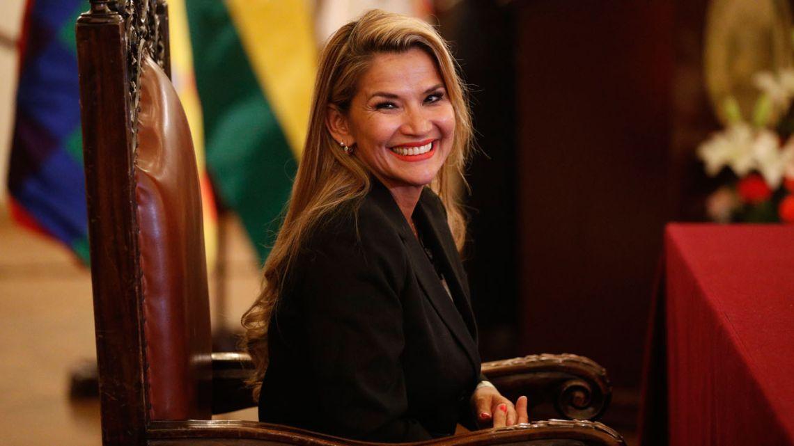 Jeanine Áñez Chávez, Bolivia's new interim leader.