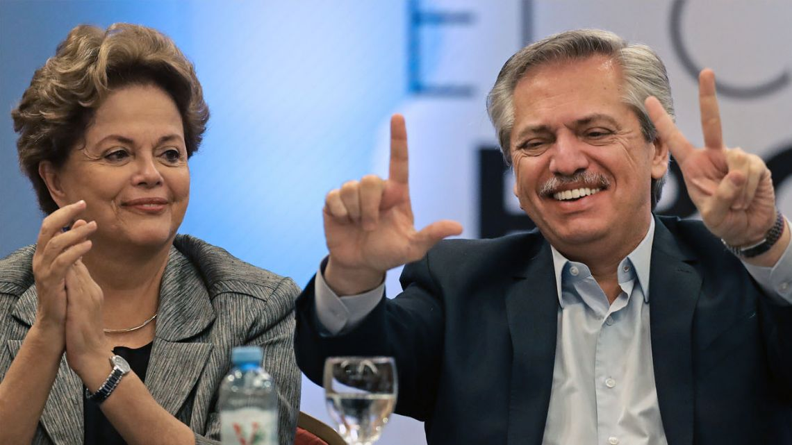 Dilma Rousseff and Alberto Fernandez.