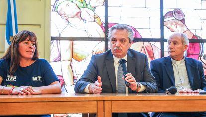 Pastoral. La reunión del miércoles pasado en el Episcopado juntó a piqueteros, Alberto e Iglesia.