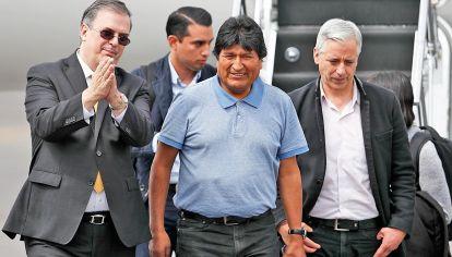Asilo. Morales instó a la resistencia y manifestó su deseo de volver.