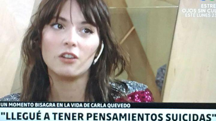 Carla Quevedo reveló que de chica tuvo tendencias suicidas y que sufre de depresión
