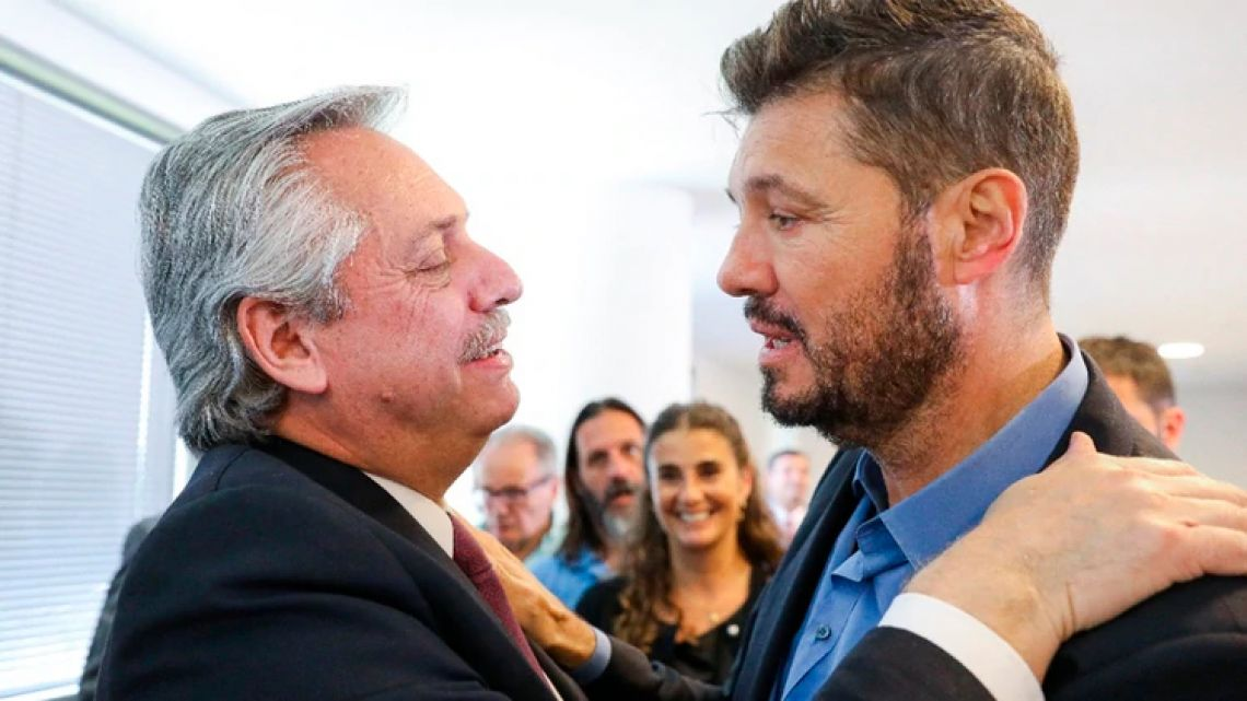 Marcelo Tinelli y Alberto Fernández
