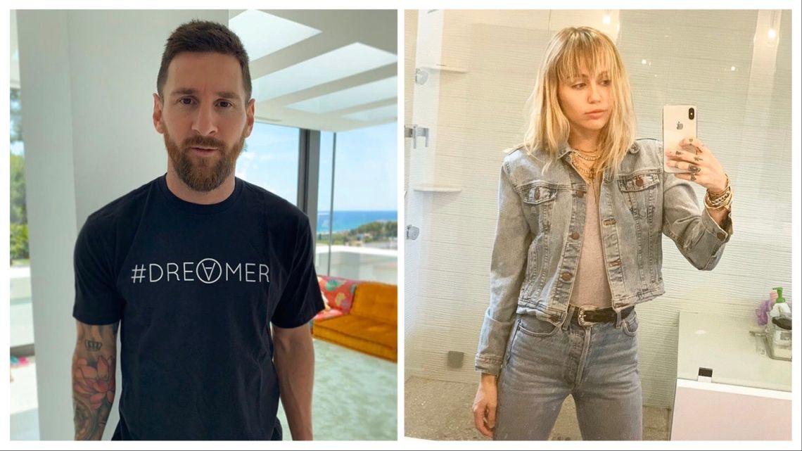 La foto que une a Leo Messi con Miley Cyrus