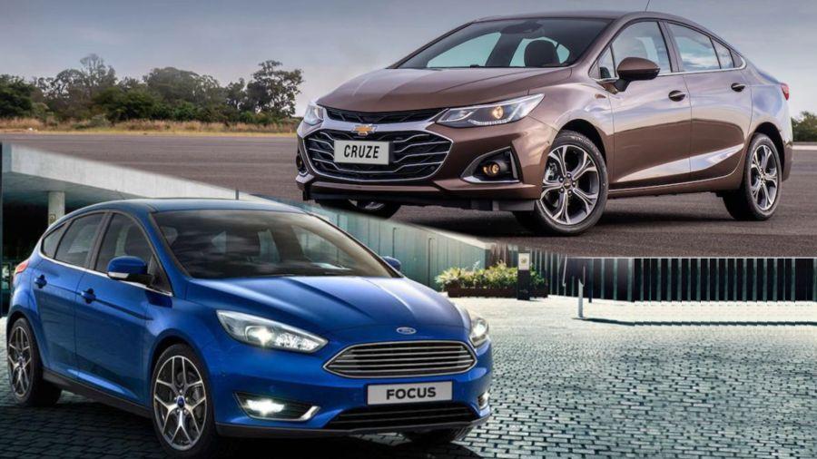 Chevrolet Cruze y Ford Focus