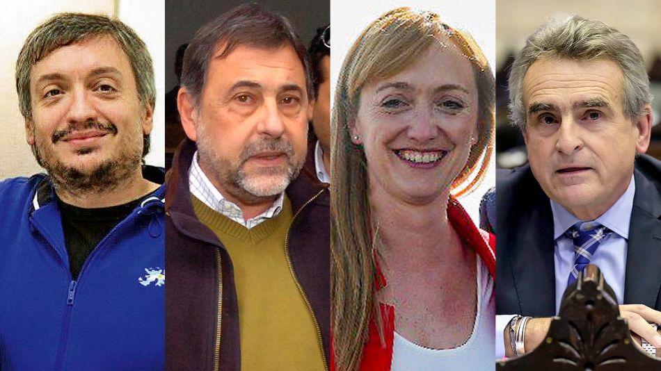 Maximo Kirchner, Carlos Caserio, Anabel Fernandez Sagasti y Agustin Rossi 20191119