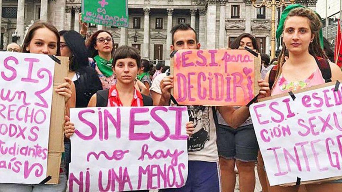 Reclamo. Los estudiantes vienen pidiendo por que se cumpla la ley de Educación Sexual Integral (ESI) | Foto:Cedoc