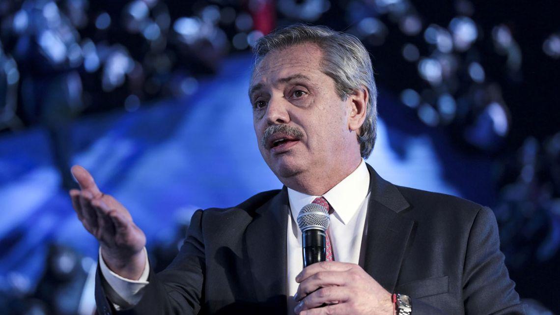 President-elect Alberto Fernández.