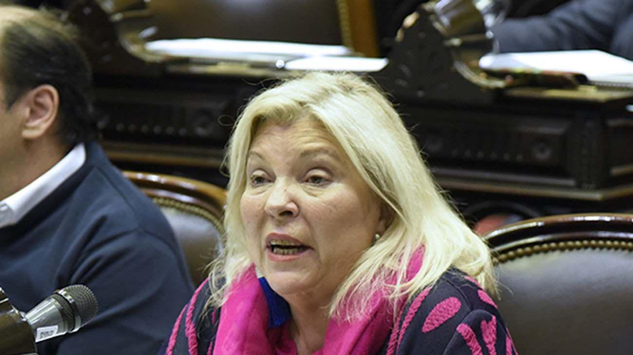 Elisa Carrió en la Cámara de Diputados.