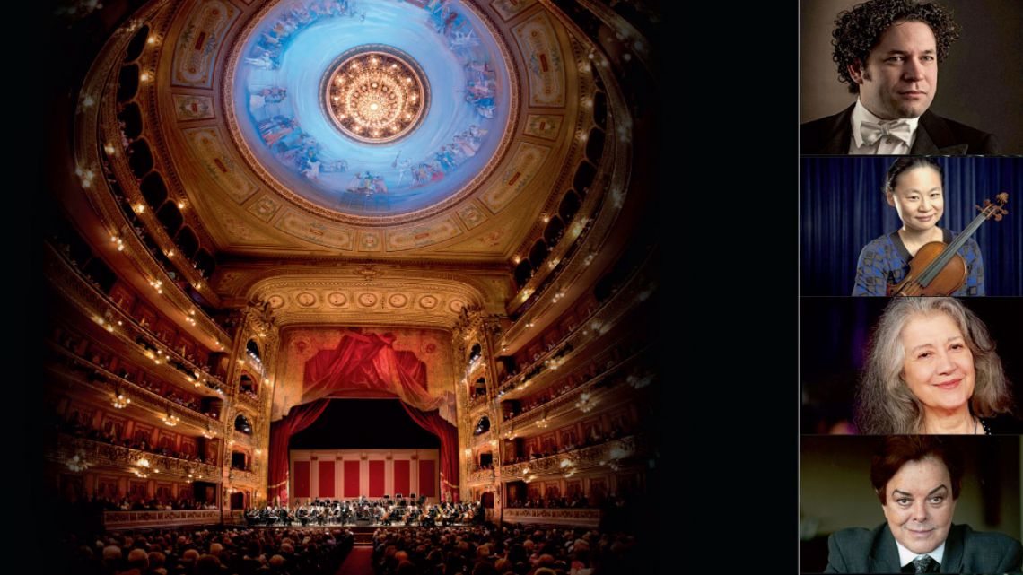 Gustavo Dudamel, Bruno Gelber, Midori, Marta Argerich y Cherles Dutoit se destacan entre las visitas destacadas.   Foto:Gentileza Teatro Colón