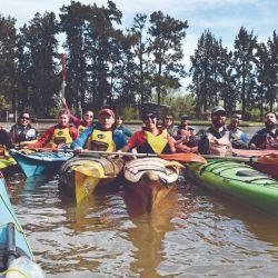 Visitamos en kayak por la hermosa Biosfera del Delta del Paraná.