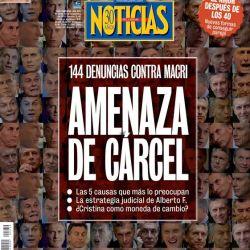 Amenaza de cárcel: cuáles son las causas que más preocupan a Macri.La tapa de NOTICIAS | Foto:Cedoc