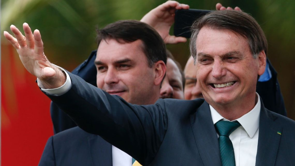 Brazil's President Jair Bolsonaro speaks at the launch of his new political party, Alliance for Brazil, in Brasilia, Brazil.
