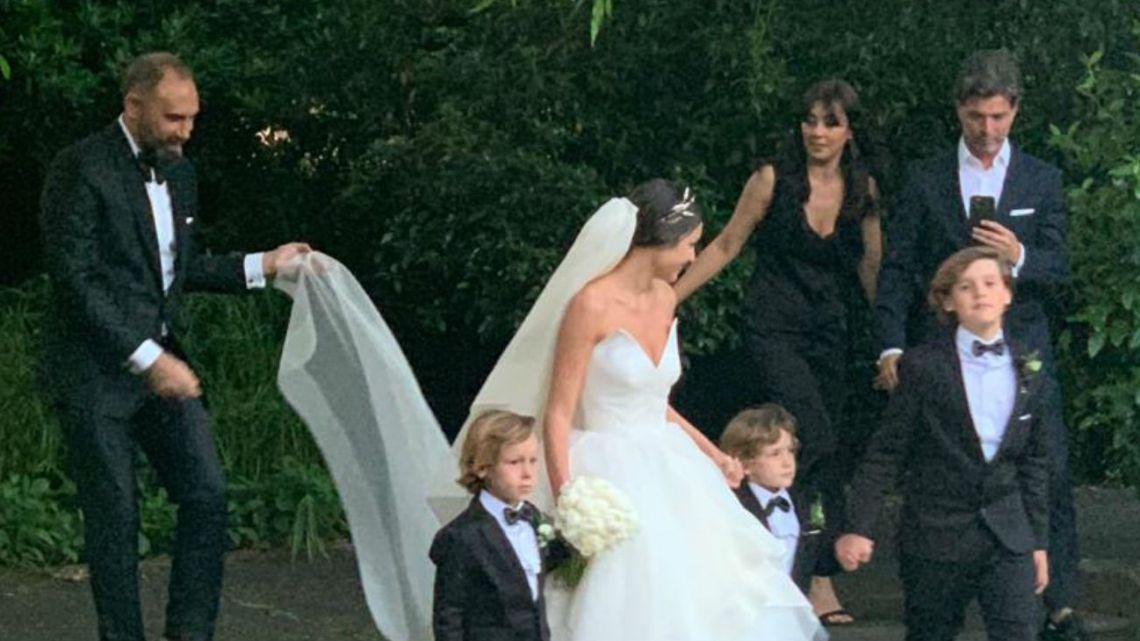 La boda del año: así llegaba Pampita a su casamiento