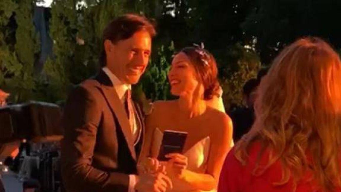 ¡Sí, quiero! El video de Pampita y Roberto García Moritán casándose