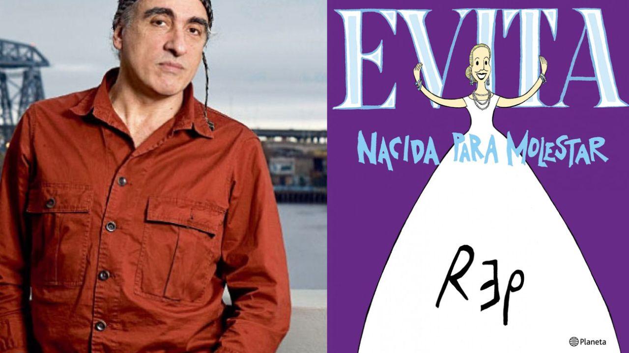 Miguel Rep y el libro Evita, nacida para molestar   Foto:Marcelo Escayola y Cedoc