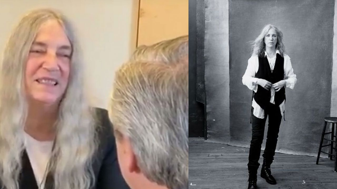 Patti Smith y Alberto Fernández   Foto:Cedoc