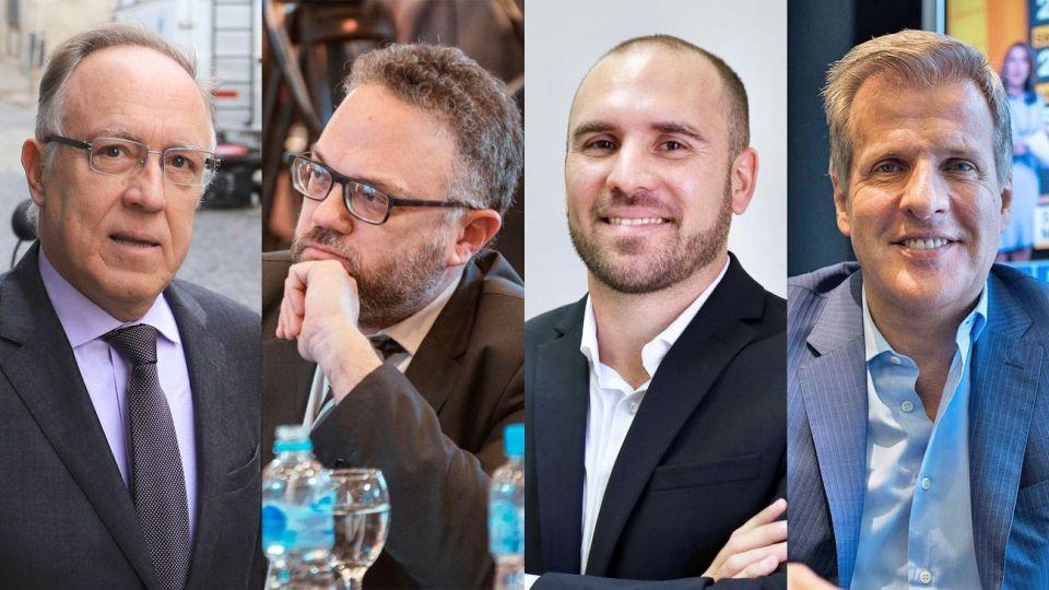 Guillermo Nielsen, Matías Kulfas, Martín Guzmán y Martín Redrado.