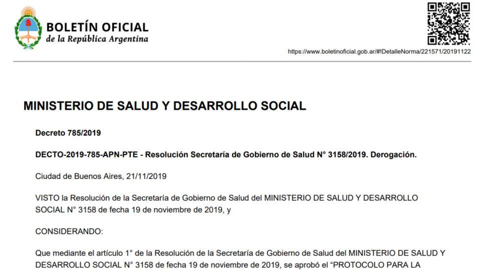 Boletín Oficial del 22 de noviembre de 2019