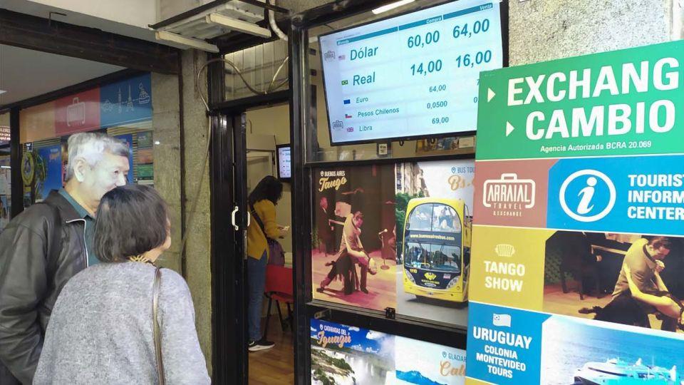 Casa de cambio en la ciudad de Buenos Aires.