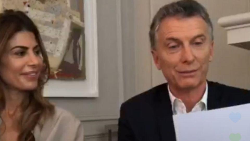 Macri habló en directo con sus seguidores de Instagram.