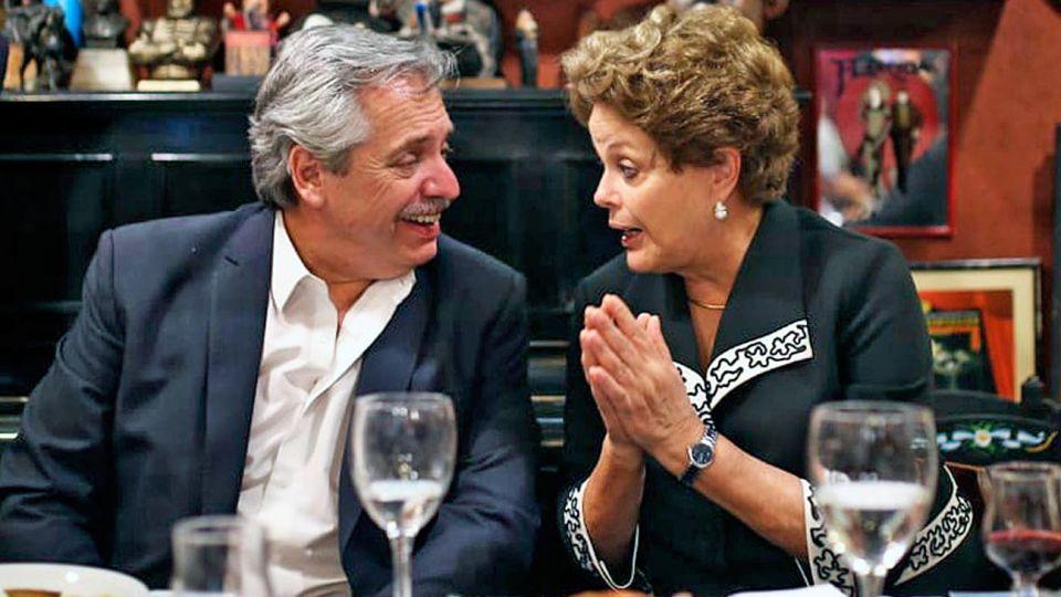 Aliados. Fernández invitó a dirigentes del Grupo Puebla, entre los que estará Dilma Rousseff.