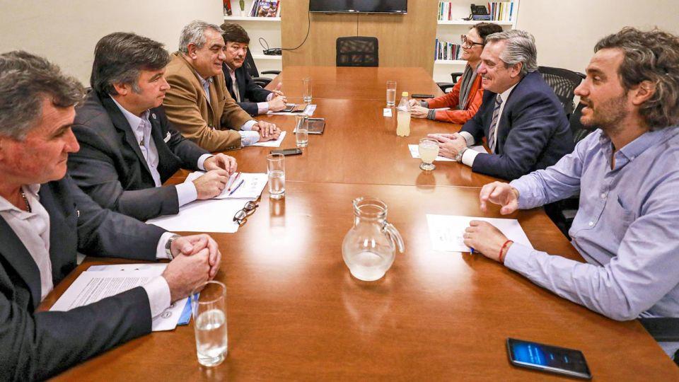 Contacto. Alberto Fernández y sus técnicos ya tuvieron varias reuniones con la Mesa de Enlace.