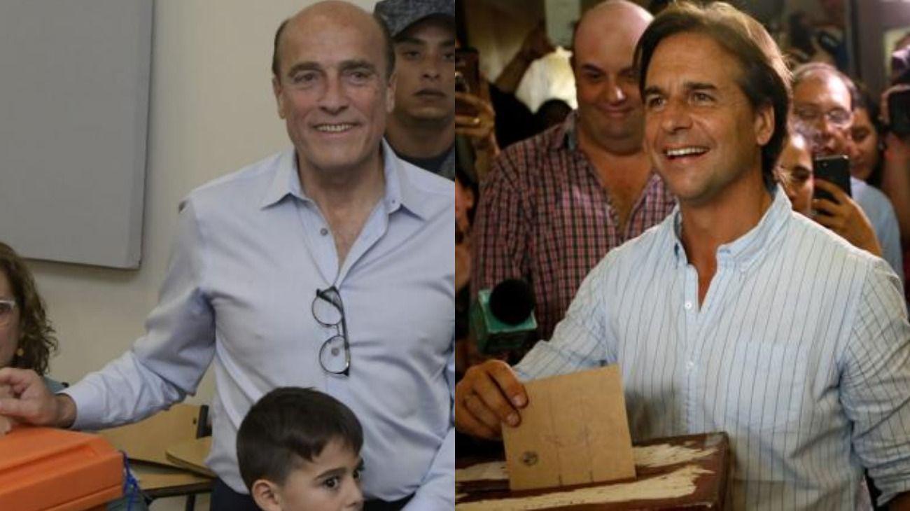 Elecciones en Uruguay: Lacalle Pou festeja y Daniel Martínez pide cautela