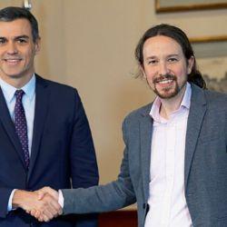 Pedro Sánchez (PSOE) y Pablo Iglesias (Podemos) | Foto:DPA
