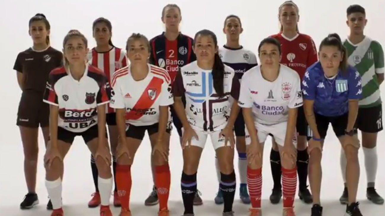 Las futbolistas de todos los clubes del torneo de primera protagonizaron la campaña.