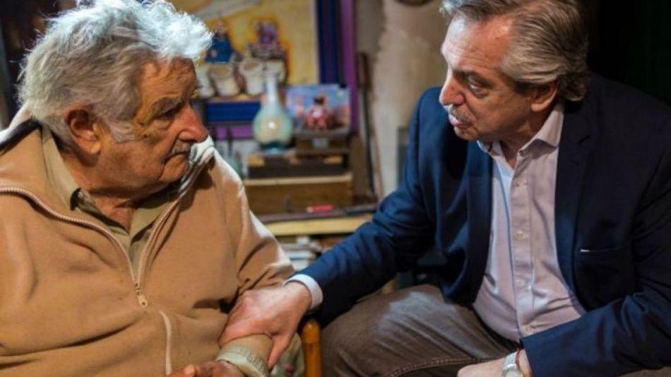 Pepe Mujica y Alberto Fernández