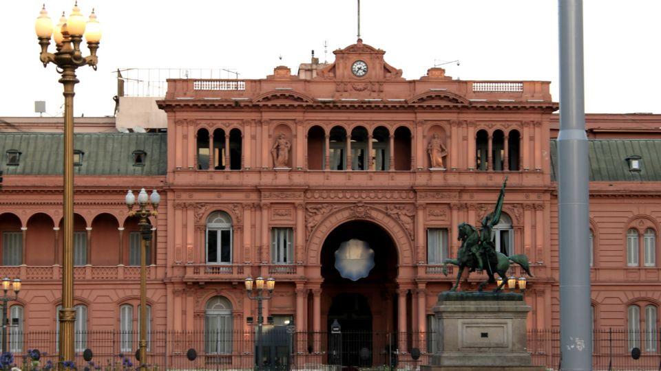 La Casa Rosada, sede del Poder Ejecutivo.
