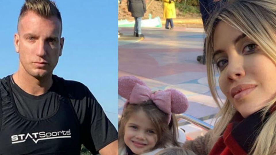 ¡Insólito! Maxi López pasó una tarde cuidando a la hija de Mauro Icardi y Wanda