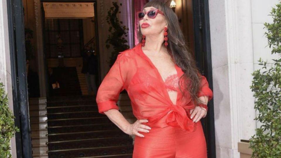 Moria Casán en la Gala de Caras 27 años