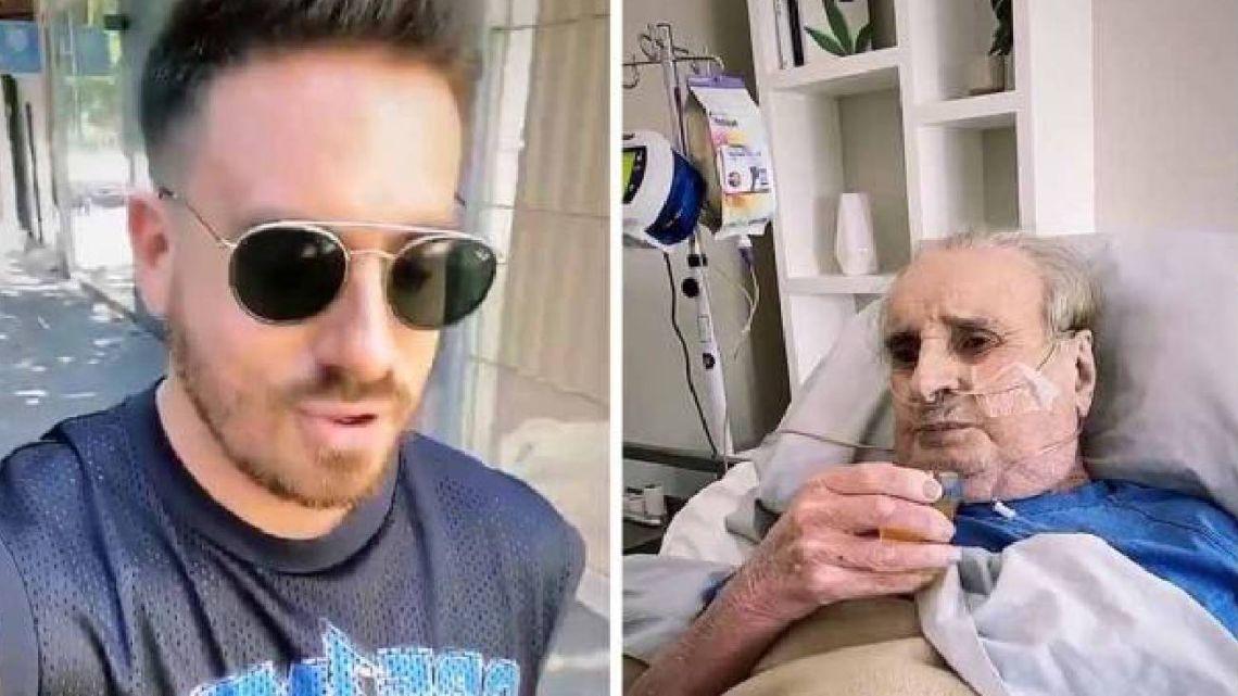 Santiago Bal grabó un emotivo video desde el hospital