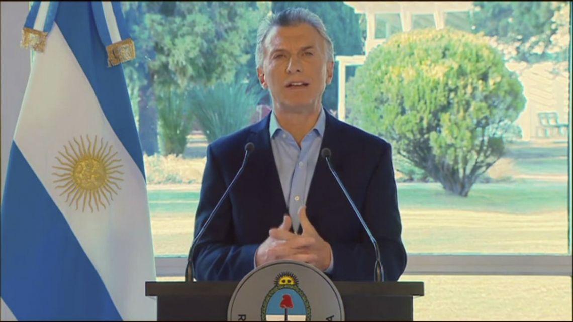 Última interna PRO: la cadena nacional de Mauricion Macri para despedirse