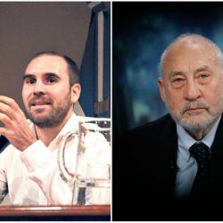 Martín Guzmán y Joseph Stiglitz | Foto:Cedoc