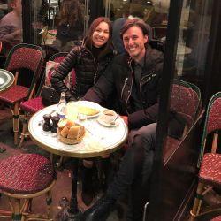 Pampita y Roberto en París