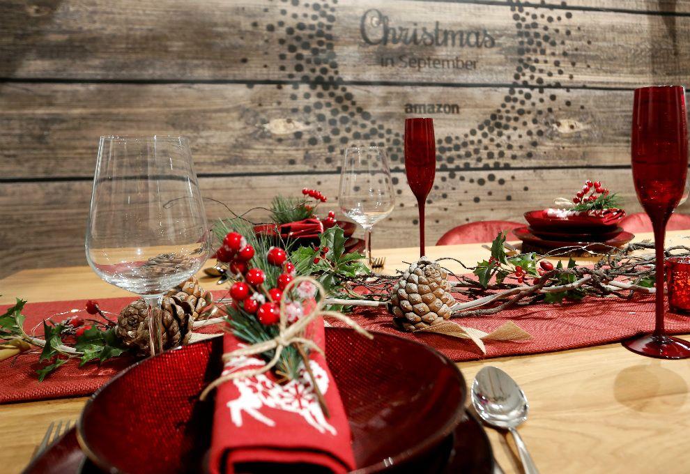 El foco de todas las miradas, las mesas de Navidad