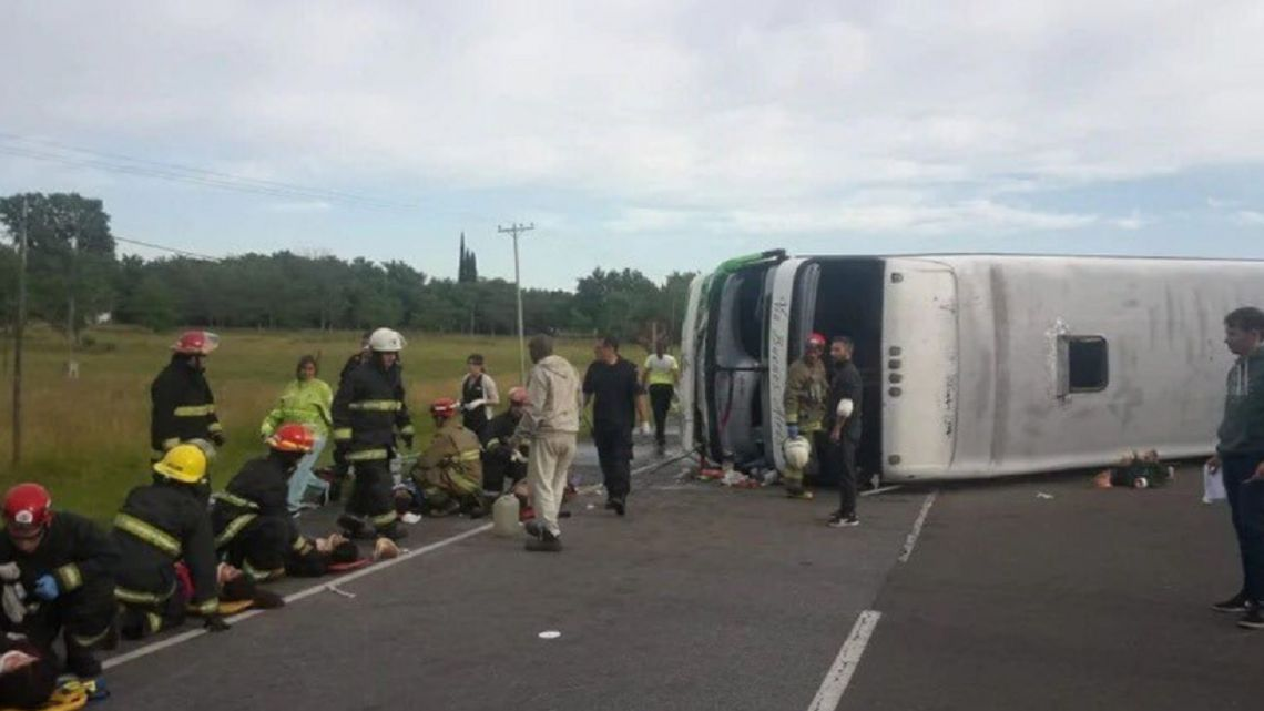 The site of the accident in Buenos Aires Province Thursday